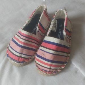 Carter's striped slip on sneaker toddler girls 5